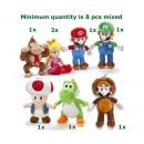 Mario Bross Plush 7 assortiti 25 cm