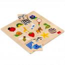 Puzzle in legno 16 pezzi 28x28 cm