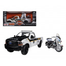 wholesale Car accessories: Maisto 1:24 Ford F350 + Harley Motor
