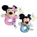 ingrosso Giocattoli per neonati: Disney Mickey Baby Plush Rattle 2 assortito