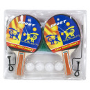 Table tennis set, 4 bats, 4 balls + net