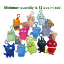 wholesale Gifts & Stationery: Ugly Dolls Plush Bagclip 12 assorted