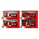 Die-Cast Fire Truck Pull back 4 assorted