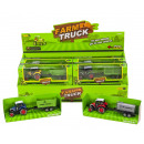 Die-Cast Tractor with trailer Pull back 4 assorted