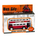 wholesale Other: Die-Cast Double-decker Bus Red 7x12cm