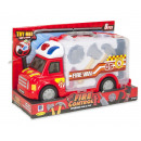 Fire truck with light and sound + fire alarm set