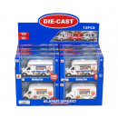 Die-Cast Food Truck Pull Back 2 assorted in Displa
