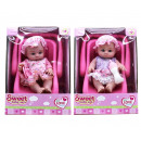 wholesale Toys: Baby doll 20cm in car seat 20x27cm