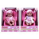 Großhandel Spielwaren: Babypuppe 20cm im Autositz 20x27cm