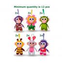 Großhandel Schlüsselanhänger: Wonderpark Plüsch Schimpansen Bagclip 6 sortiert 1