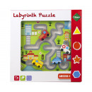 wholesale Puzzle: Wooden Labyrinth puzzle 30x30x5cm