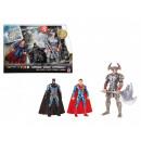 DC Comics Figuren 3er Pack, Superman Batman Steppe