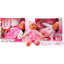 Baby doll with bottle and bib four assorted 40cm