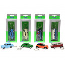 Welly Keychain car 1:60 4 assorted