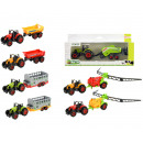 DIECAST Tractor large + trailer 7 assorted
