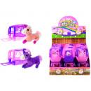 Großhandel Spielwaren: Plüsch - Einhorn in der Reisekorb in zwei verschie