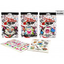 wholesale Jewelry & Watches: Tattoo sticker book 280st. 6 assorted