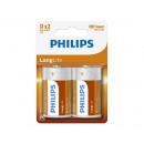 mayorista Baterias y pilas: Philips R20 Longlife 2 piezas