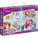 mayorista Artículos con licencia: Disney Sofia Mini Edukit 3 piezas (Domino, Minipuz