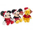 Disney Plüsch mit Weihnachtsmütze 3-fach sortiert