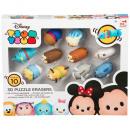 groothandel Licentie artikelen: Disney Tsum Tsum 3D Puzzel Gum 10-pack 5x3cm