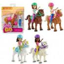 Barbie unterwegs Barbie mit Pferd sortiert 13x15cm