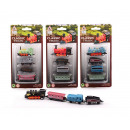 Locomotive Die-Cast play set pull-back 4-piece