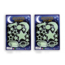 wholesale Other: Glow in the Dark stickers Moon and Stars 14 parts