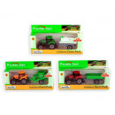 Tractor with trailer 19cm 3 assorted