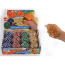 Großhandel Sonstige: Quetschkugel Glitter weiß 4-fach 100 g
