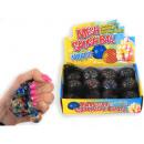 groothandel Overigen: Squeezy ball 6cm rainbow/crystal