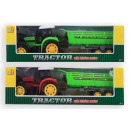 wholesale Other: Tractor with trailer 2 assorted 36.5x10x12.6 cm