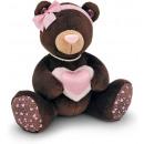 wholesale Dolls &Plush: Plush Bear Choco & Milk with heart 15 cm