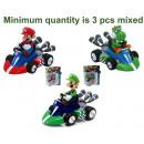 Super Mario Figurine in Kart in Blisterpack Pull-b