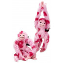 Plush hanging monkey pink 25cm