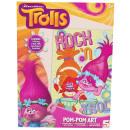 groothandel Feestartikelen: Trolls Pompoms Kunst 21x28cm