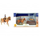 Horse with rider and accessories in window box