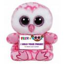 TY Plush Owl with Glitter eyes Smartphone holder M