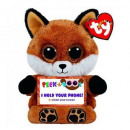 TY Plush Fox with Glitter eyes Smartphone holder S