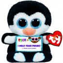 TY Plush Penguin with Glitter eyes Smartphone love