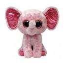 TY Plush Elephant pink with Glitter eyes Ellie 24c