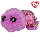 TY Plush Turtle Purple with Glitter eyes Slowpok