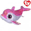 TY Plush Dolphin pink with Glitter eyes Sparkles 1