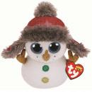 wholesale Figures & Sculptures: TY Plush Snowman with glitter eyes Buttons 24 cm