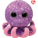 TY Plush Octopus pink with Glitter eyes Legs 15 cm