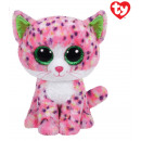 TY Plush Cat pink with Glitter eyes Sophie 24cm