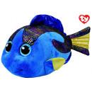grossiste Poupees et peluches: TY Poisson en peluche bleu avec des yeux scintilla