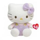 Großhandel Lizenzartikel: TY Hello Kitty Plüschkatze mit Overall pink