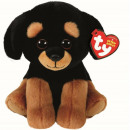 TY Plush Rottweiler with Glitter eyes Trevour 15cm