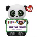 TY Plush Panda with Glitter eyes Tablet holder Poo